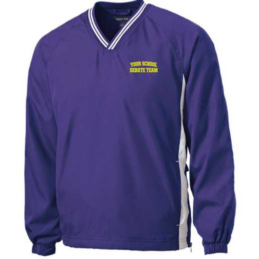 Youth Debate Team Embroidered V-Neck Contrast Windbreaker