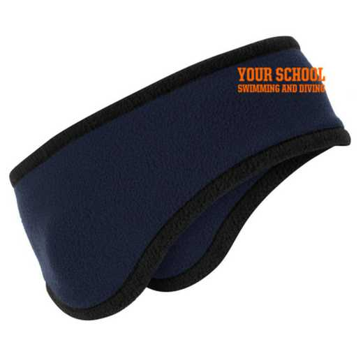 Swimming and Diving Two-Color Fleece Headband