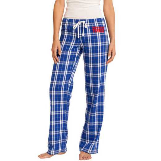 Juniors Embroidered Flannel Pants