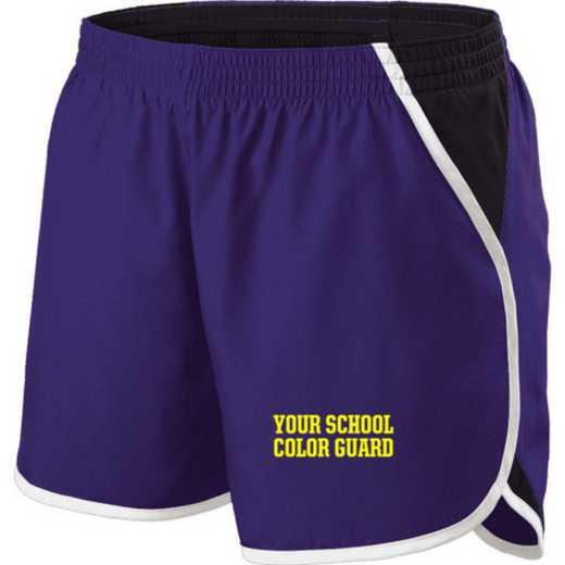 Color Guard Holloway Embroidered Ladies Energize Short