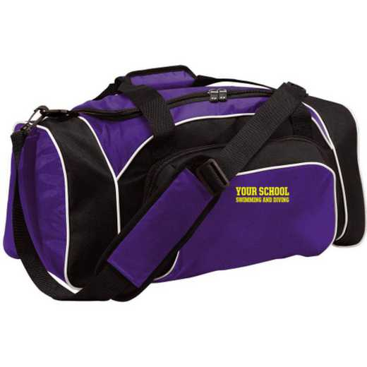 Swimming and Diving Embroidered Holloway League Duffel Bag