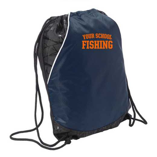 Fishing Embroidered Cinch Pack