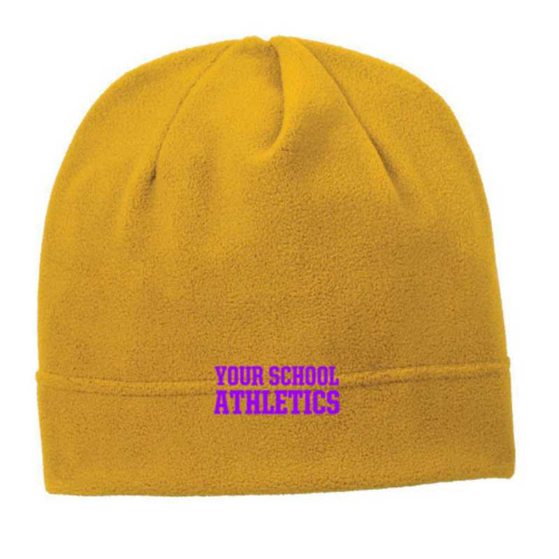 C900-ATH-OSFA: Athletics Embroidered Stretch Fleece Beanie