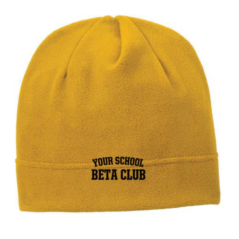 C900-BETA-OSFA: Beta Club Embroidered Stretch Fleece Beanie