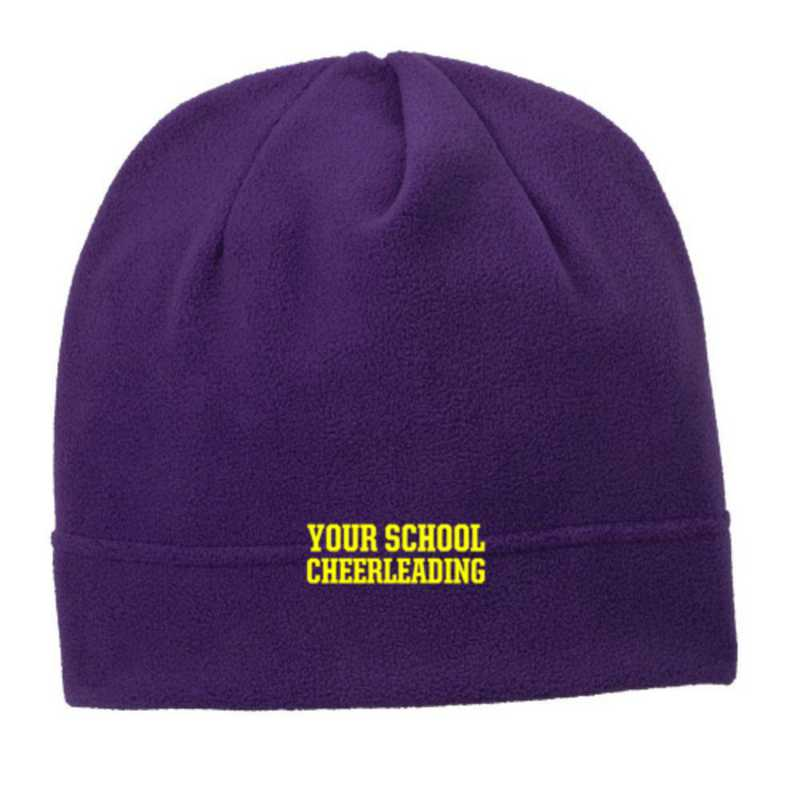 C900-CHEER-OSFA: Cheerleading Embroidered Stretch Fleece Beanie