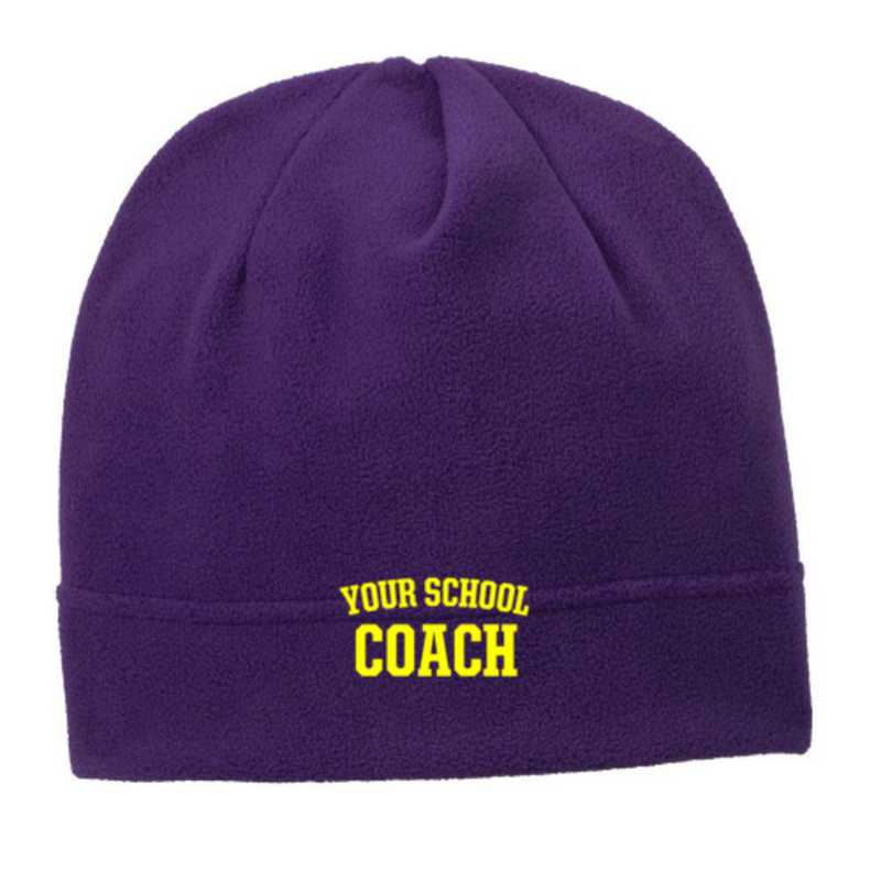 C900-COACH-OSFA: Coach Embroidered Stretch Fleece Beanie
