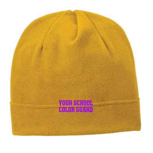 C900-COLORGD-OSFA: Color Guard Embroidered Stretch Fleece Beanie