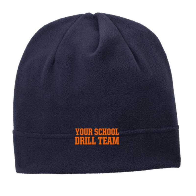 C900-DRILL-OSFA: Drill Team Embroidered Stretch Fleece Beanie