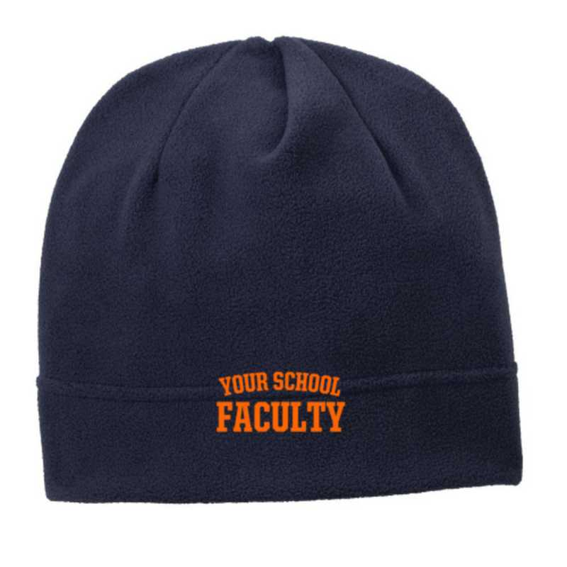 C900-FACULTY-OSFA: Faculty Embroidered Stretch Fleece Beanie