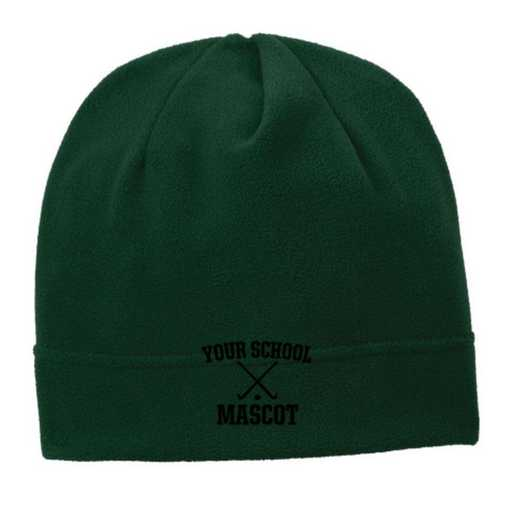 C900-FIELD-OSFA: Field Hockey Embroidered Stretch Fleece Beanie