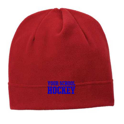 C900-HOCKEY-OSFA: Hockey Embroidered Stretch Fleece Beanie