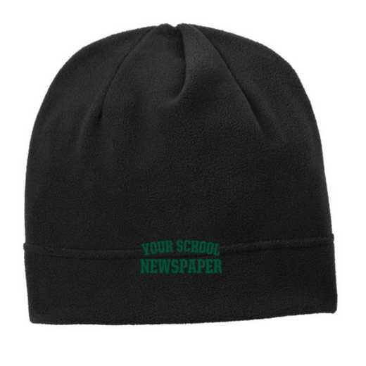 C900-NP-OSFA: Newspaper Embroidered Stretch Fleece Beanie
