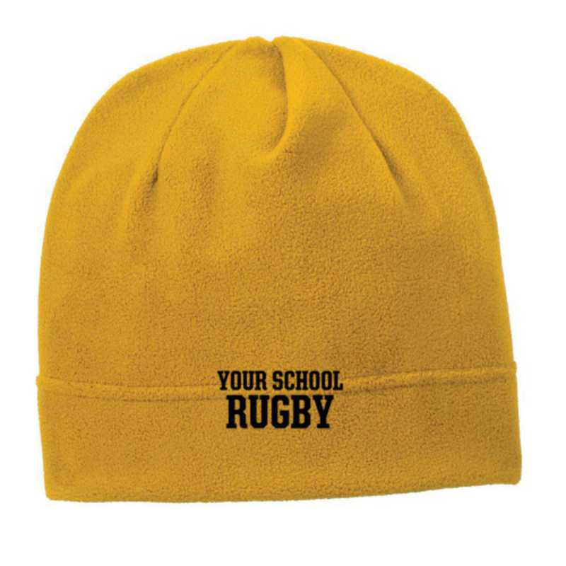 C900-RUGBY-OSFA: Rugby Embroidered Stretch Fleece Beanie