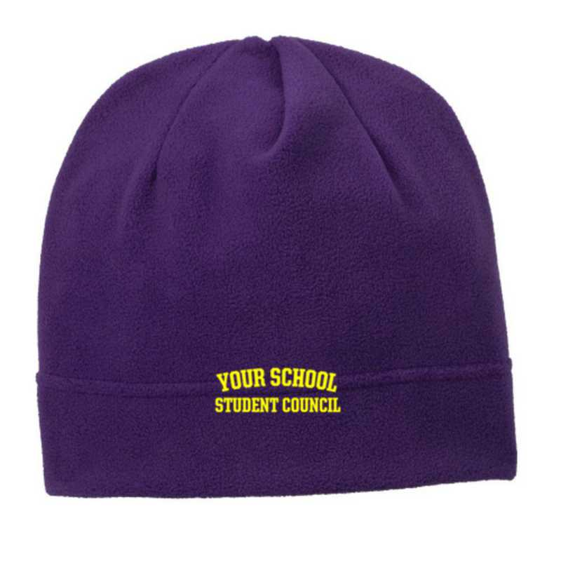 C900-STDNTC-OSFA: Student Council Embroidered Stretch Fleece Beanie