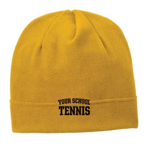 C900-TENNIS-OSFA: Tennis Embroidered Stretch Fleece Beanie
