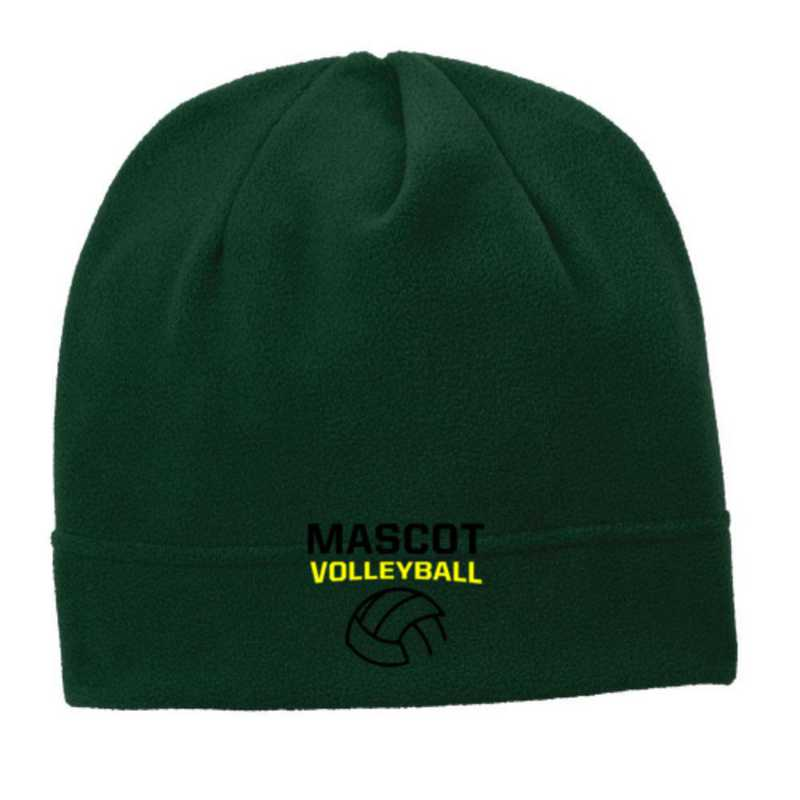 C900-VB-OSFA: Volleyball  Embroidered Stretch Fleece Beanie