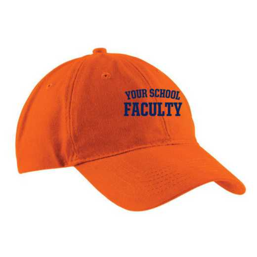 Faculty Embroidered Brushed Twill Cap