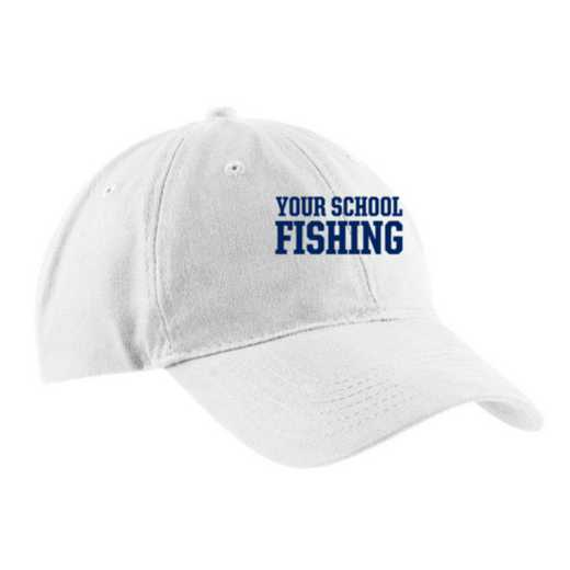 Fishing Embroidered Brushed Twill Cap