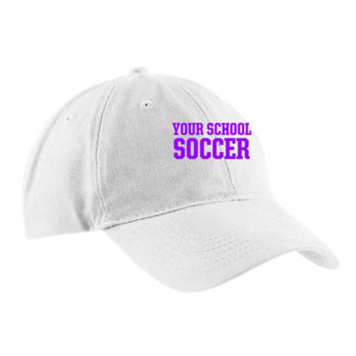 Soccer Embroidered Brushed Twill Cap
