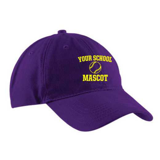 Softball Embroidered Brushed Twill Cap