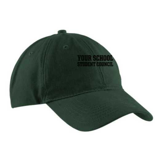 Student Council Embroidered Brushed Twill Cap
