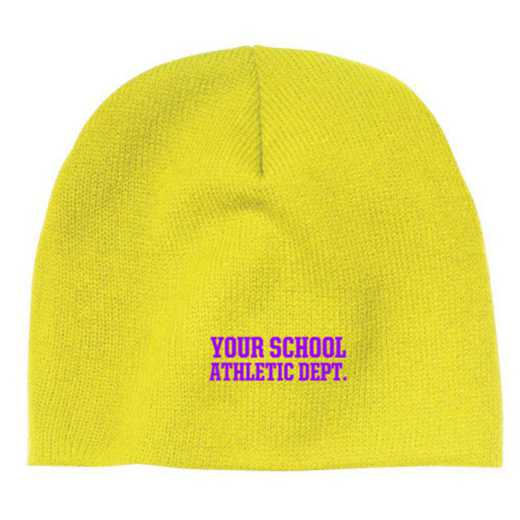 Athletic Department Embroidered Knit Beanie Cap