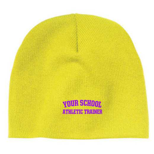 Athletic Trainer Embroidered Knit Beanie Cap