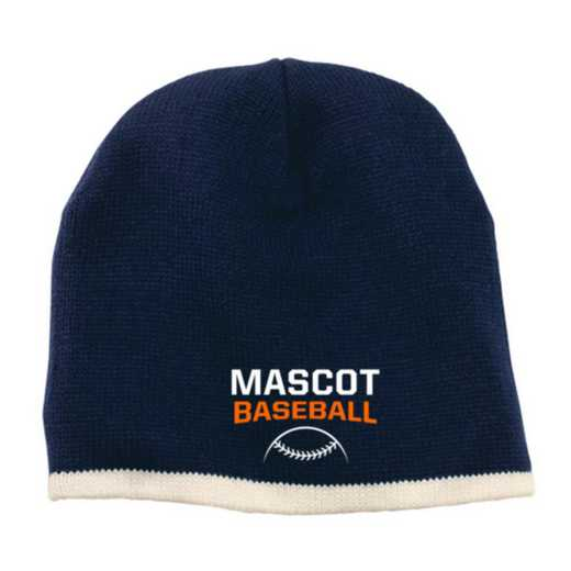Baseball Embroidered Knit Beanie Cap