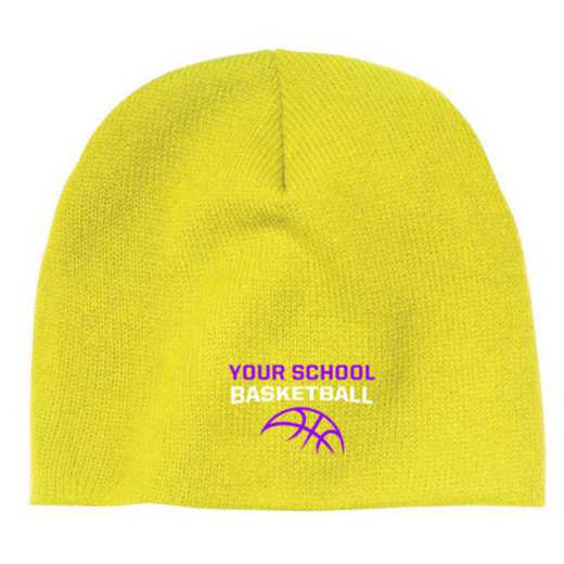 Basketball Embroidered Knit Beanie Cap