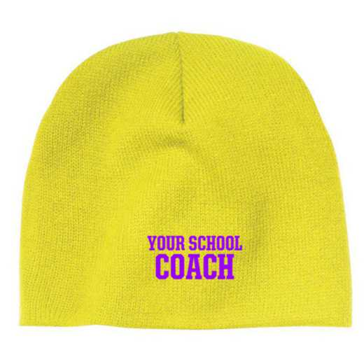 Coach Embroidered Knit Beanie Cap