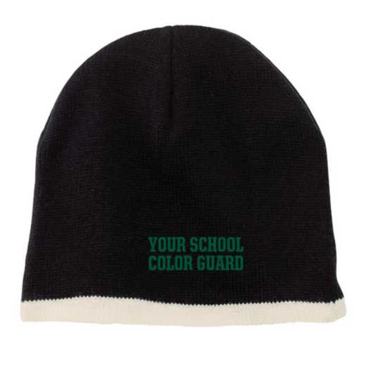 Color Guard Embroidered Knit Beanie Cap