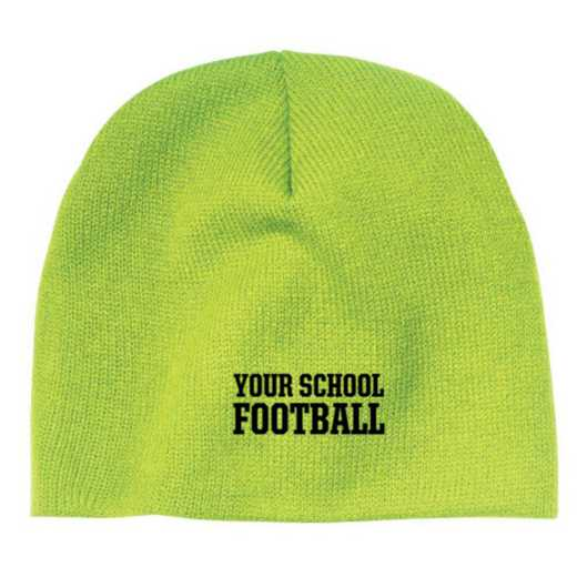 Football Embroidered Knit Beanie Cap