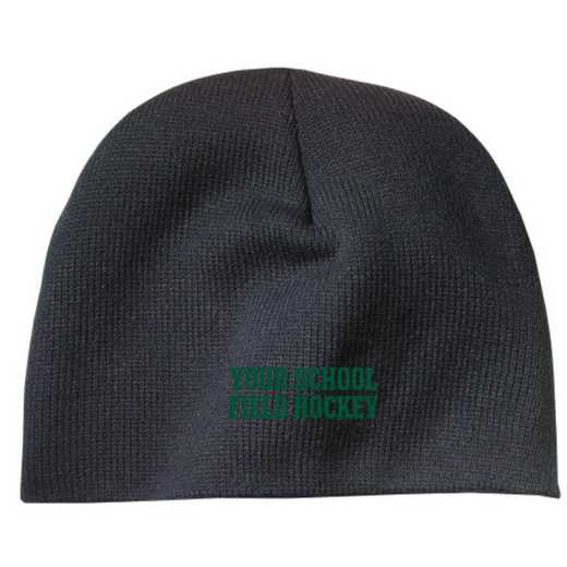 Field Hockey Embroidered Knit Beanie Cap