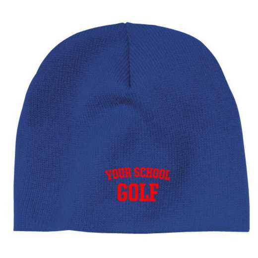 Golf Embroidered Knit Beanie Cap