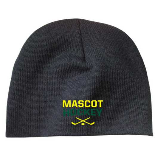 Hockey Embroidered Knit Beanie Cap