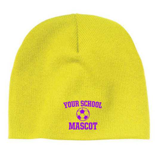 Soccer Embroidered Knit Beanie Cap