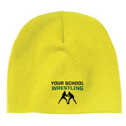 Wrestling Embroidered Knit Beanie Cap