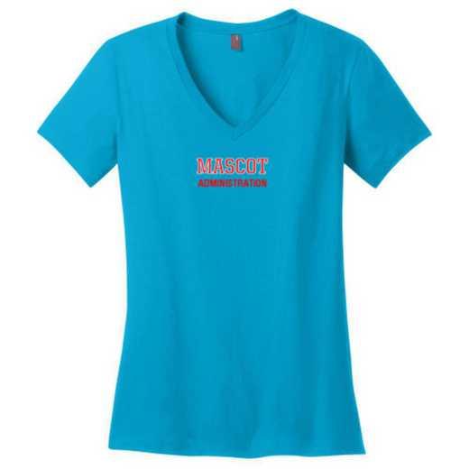 Administration Womens Cotton V-Neck T-shirt