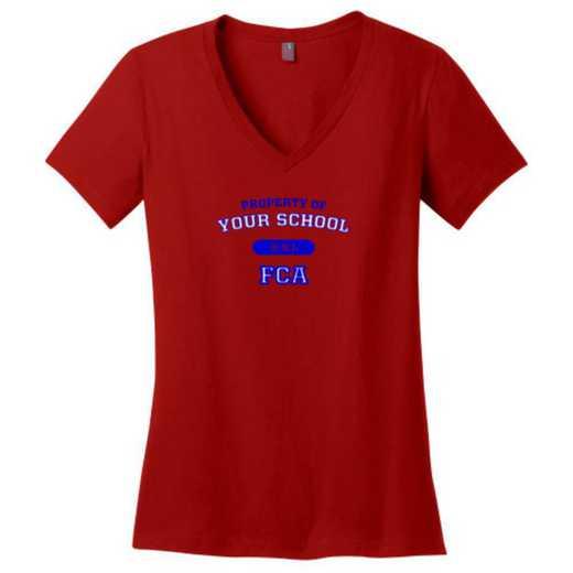 FCA Womens Cotton V-Neck T-shirt