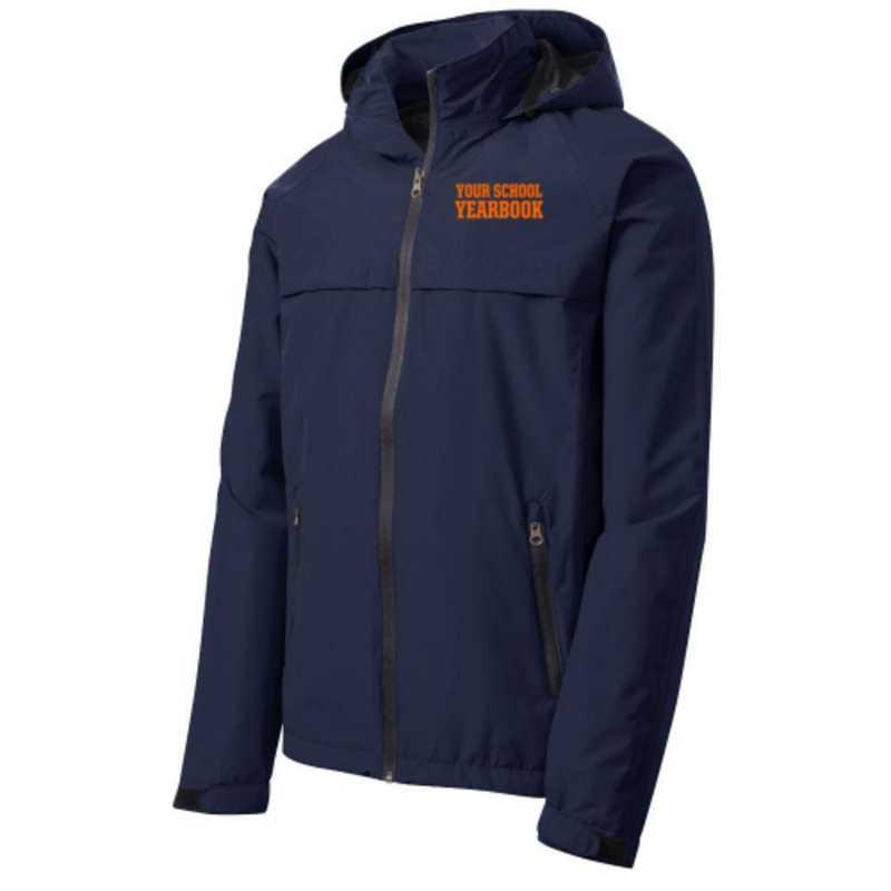 Embroidered Waterproof Rain Jacket