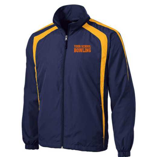 Men's Bowling Embroidered Lightweight Raglan Jacket