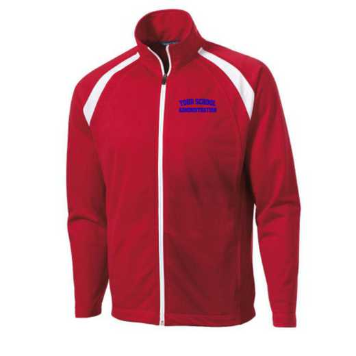 Men's Administration Embroidered Tricot Track Jacket