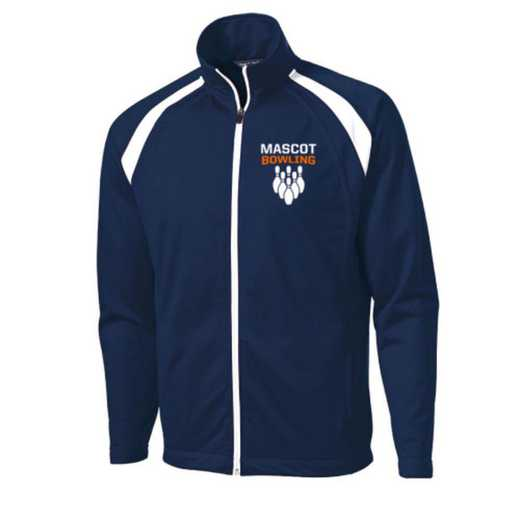 Men's Bowling Embroidered Tricot Track Jacket