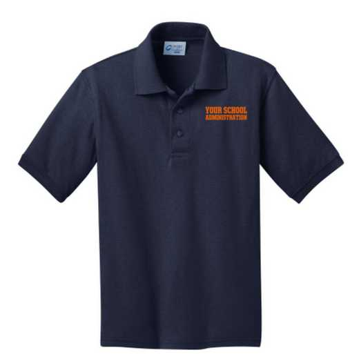 Youth Administration Embroidered Jersey Polo Shirt