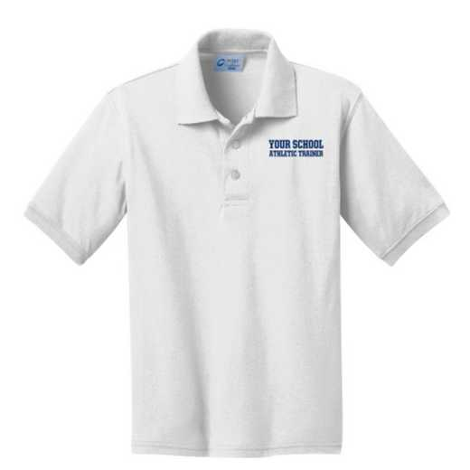 Youth Athletic Trainer Embroidered Jersey Polo Shirt