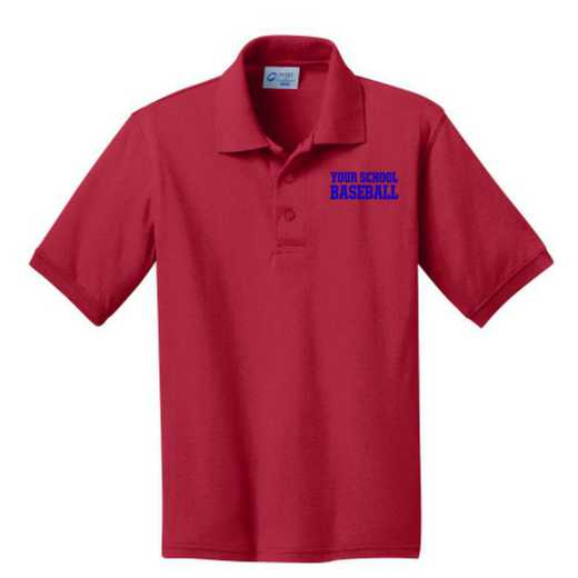 Youth Baseball Embroidered Jersey Polo Shirt