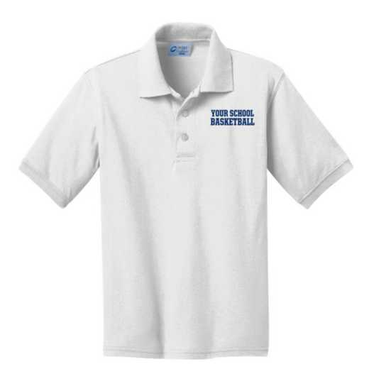 Youth Basketball Embroidered Jersey Polo Shirt