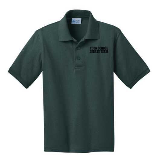 Youth Debate Team Embroidered Jersey Polo Shirt