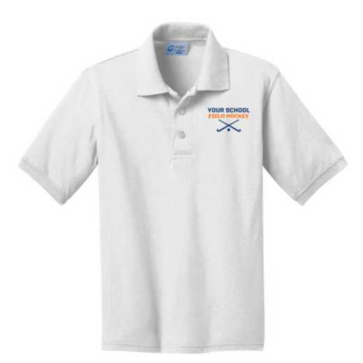 Youth Field Hockey Embroidered Jersey Polo Shirt