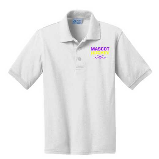 Youth Hockey Embroidered Jersey Polo Shirt